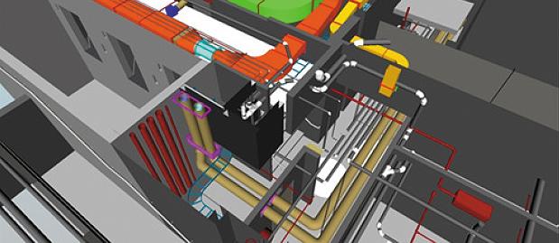 BIM for FM Navisworks coordination & review basement services (C) Arkhefield