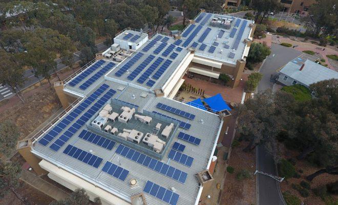 La Trobe University zero emissions initiative underway at the Bendigo campus.