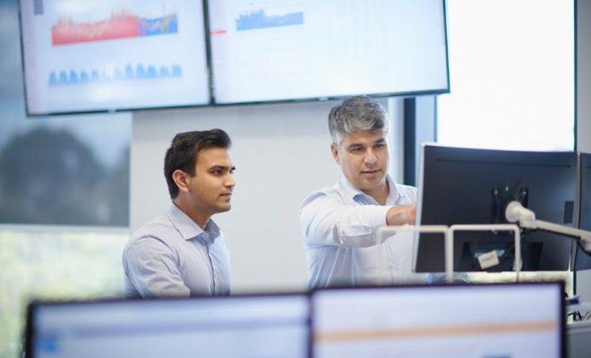 Sid Sheth (left) at City FM Australia's Energy Centre.